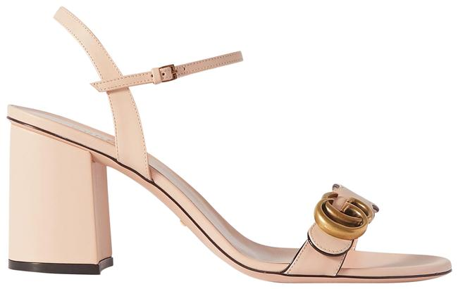 Item - Neutral Marmont New Gg Logo-embellished Leather Sandals Size EU 40.5 (Approx. US 10.5) Regular (M, B)