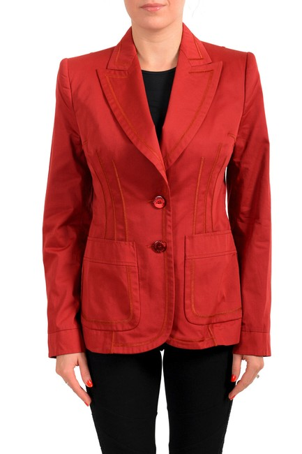 Item - Red Women's Button Down Blazer Size 16 (XL, Plus 0x)