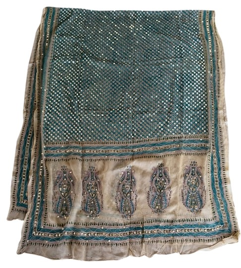 Other Authentic Embroidered Sari Shawl From India