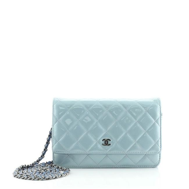 Item - Wallet on Chain Quilted Patent Shoulder Bag