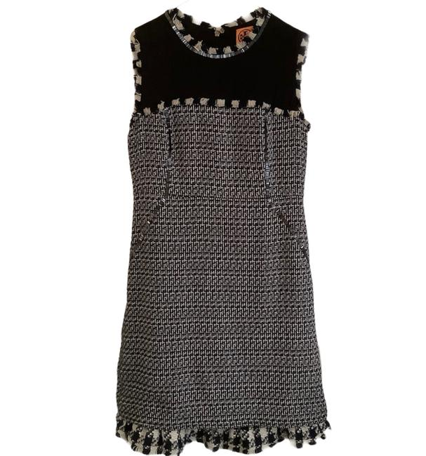 Item - Navy Blue and White Tweed Short Casual Dress Size 8 (M)
