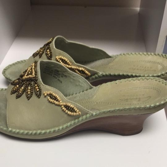 Clarks Soft Green Wedges