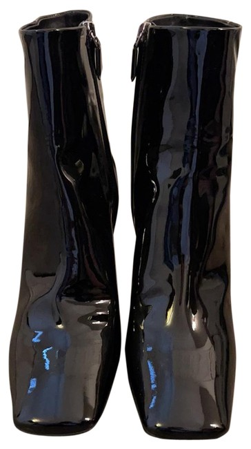 Item - Black Patent Leather Ankle Boots/Booties Size EU 38.5 (Approx. US 8.5) Regular (M, B)