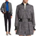 3.1 Phillip Lim Multicolor Cropped Boucle-tweed Textured Plaid Track Bomber Jacket Size 2 (XS) 3.1 Phillip Lim Multicolor Cropped Boucle-tweed Textured Plaid Track Bomber Jacket Size 2 (XS) Image 12
