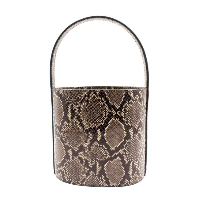 Item - Bucket Bag Print Snakeskin Leather Tote