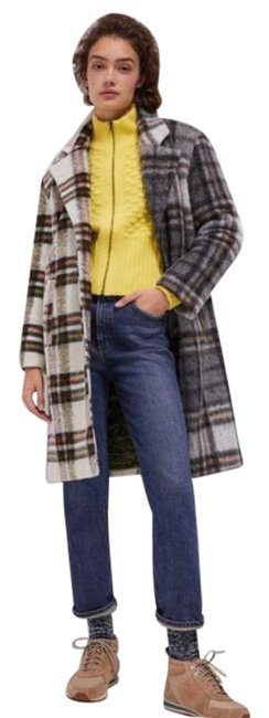 Item - Gray White L Kelsey Contrast Plaid Jacket Coat Size 12 (L)