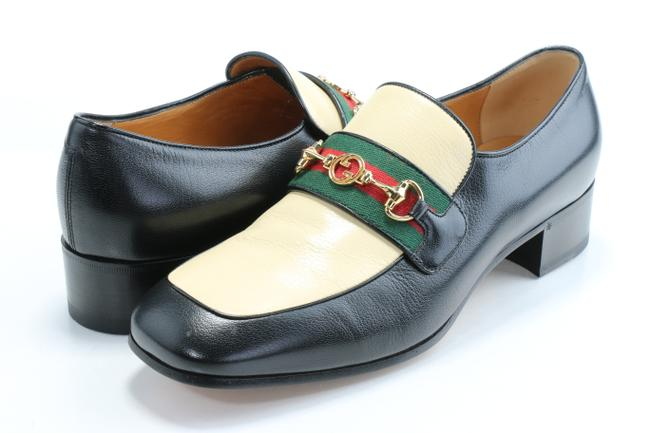 Item - Black/Yellow Horsebit Leather Loafer with Web Shoes