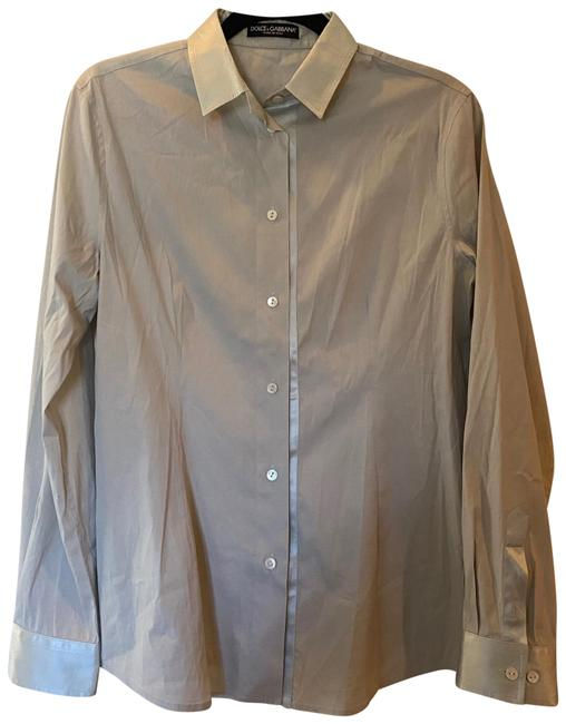 Item - Silver Grey Long Sleeve Button-down Top Size 12 (L)