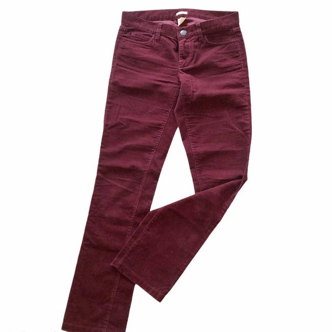 Item - Red Matchstick Cords In Burgundy Pants Size 0 (XS, 25)