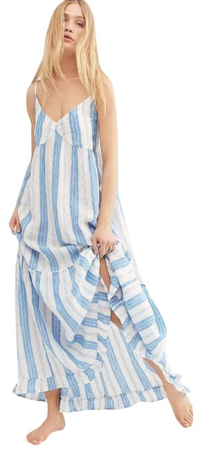 Item - Blue New Cp Shades Isabella Stripe Casual Maxi Dress Size 6 (S)