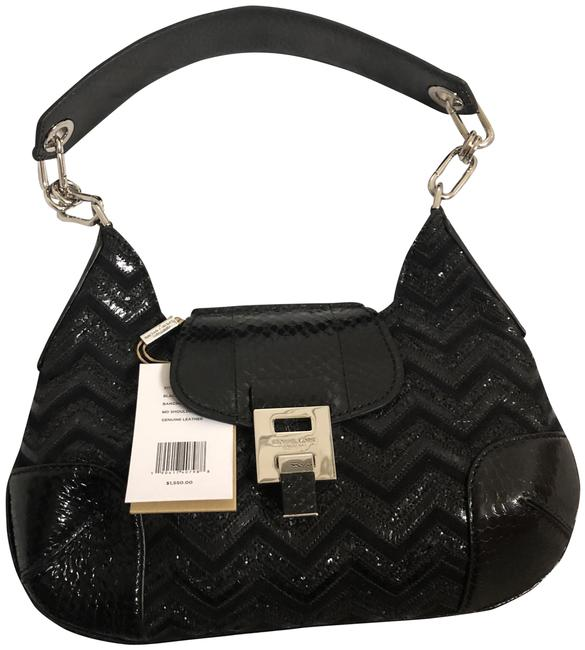 Item - Bancroft Black Snakeskin Leather Shoulder Bag