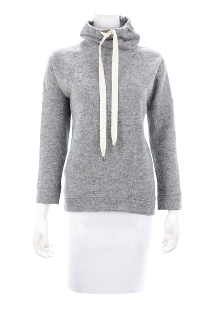 Item - Grey Heather Wool Blend Cowl Neck X-small Sweatshirt/Hoodie Size 0 (XS)