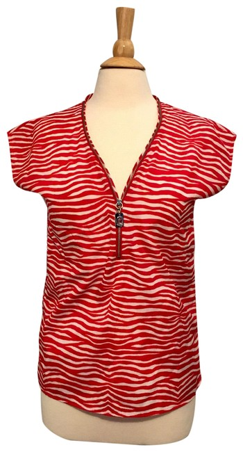 Item - Red/White Blouse Size 2 (XS)