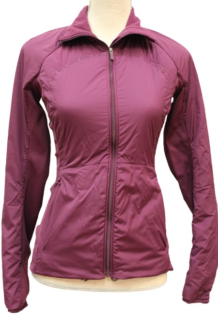 Item - Burgundy Run For Cold Zip Front Activewear Outerwear Size 4 (S)