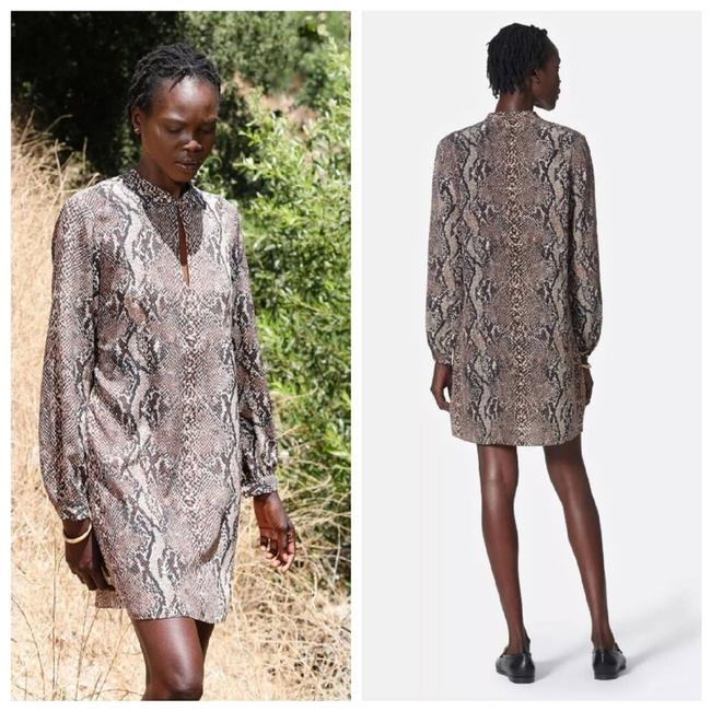 Item - Brown Silk Shift In Natural Night Out Dress Size 2 (XS)
