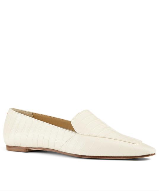 Item - Cream Aurora Croc-embossed Leather Loafers Flats Size EU 36 (Approx. US 6) Regular (M, B)