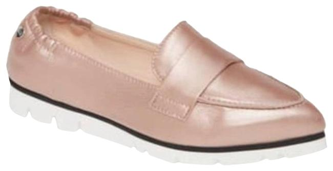 Item - White Micro Metallic Pink Pointed Toe Loafer Flats Size EU 39 (Approx. US 9) Regular (M, B)