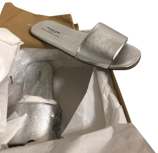 Michael Kors Collection Silver Dalphine Runway Sandals Size EU 39.5 (Approx. US 9.5) Narrow (Aa, N) Michael Kors Collection Silver Dalphine Runway Sandals Size EU 39.5 (Approx. US 9.5) Narrow (Aa, N) Image 1