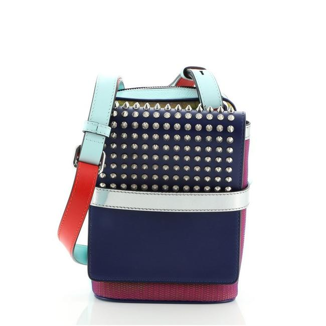 Item - Reporter Benech Spiked Multicolor Leather Cross Body Bag