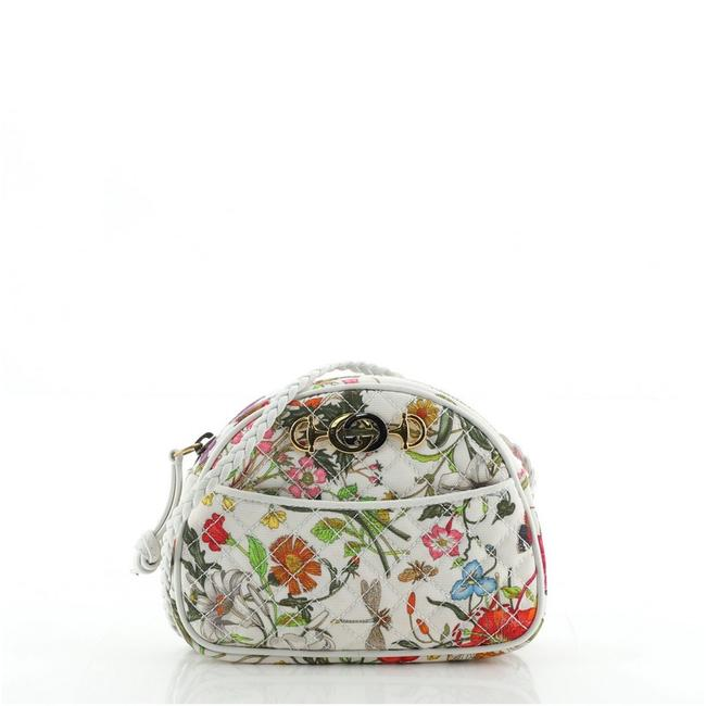 Item - Trapuntata Camera Quilted Flora Mini Multicolor Canvas Shoulder Bag