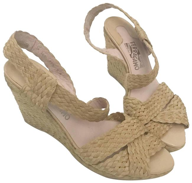 Item - Tan Braided Woven Strappy Wedges Size US 9 Regular (M, B)