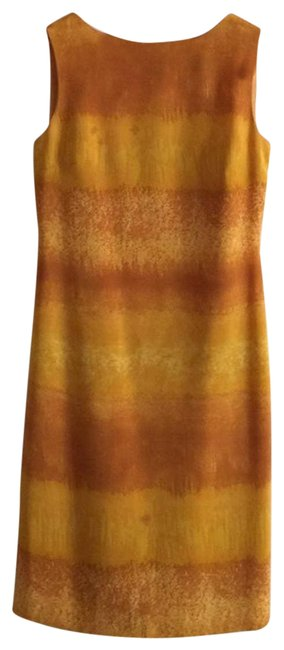 Item - Yellow Watercolor Silky Sleeveless Short Casual Dress Size 6 (S)