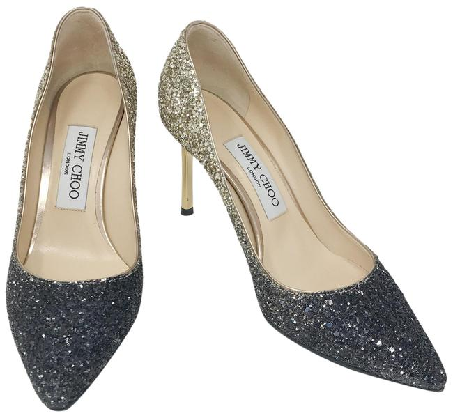 Item - Anthracite and Gold Classic Glitter Romy 85 Heel Pumps Size EU 36 (Approx. US 6) Regular (M, B)