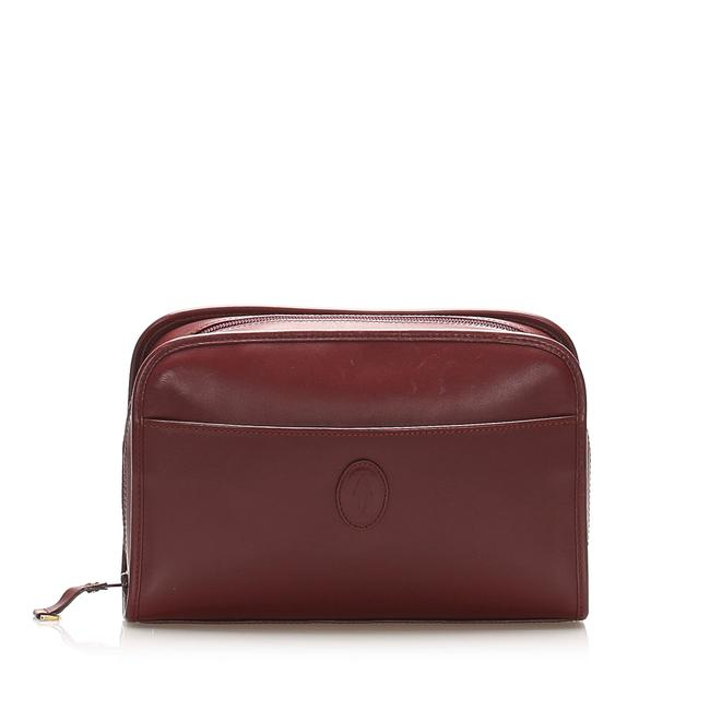 Item - Must Red Leather Clutch