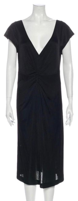Item - Black V-neck Mid-length Casual Maxi Dress Size 12 (L)