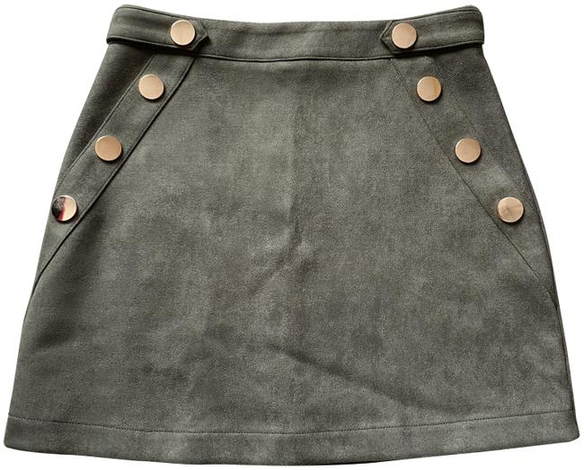 Item - Olive Green Faux Suede Skirt Size 4 (S, 27)
