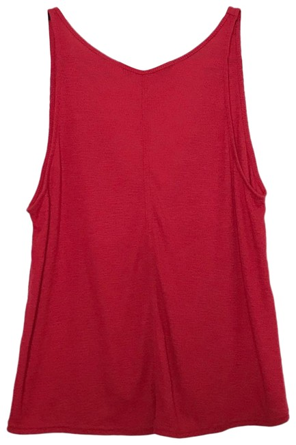 Item - Red Intimately Ribbed V-back Small S Tank Top/Cami Size 4 (S)