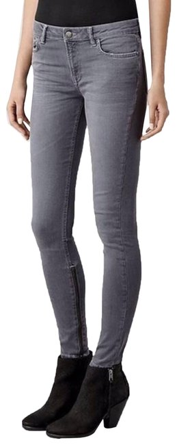 Item - Gray Rail Zippered Ankle Skinny Jeans Size 28 (4, S)