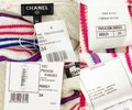 Chanel Ivory Red Blue Reversible Stripe Cashmere Linen Short Casual Maxi Dress Size 2 (XS) Chanel Ivory Red Blue Reversible Stripe Cashmere Linen Short Casual Maxi Dress Size 2 (XS) Image 5