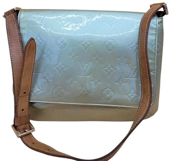Item - Vernis Green Khaki Leather Shoulder Bag