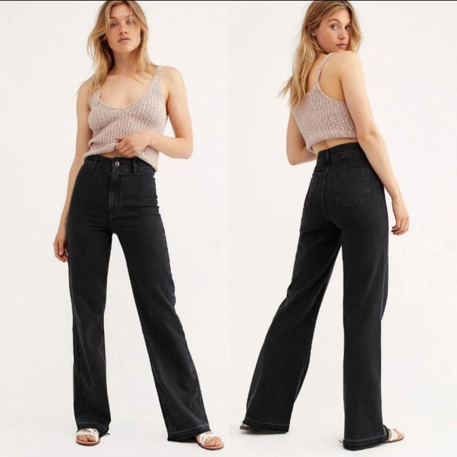 Item - Faded Black Mindy Rigid Rise Wide Flare Leg Jeans Size 29 (6, M)