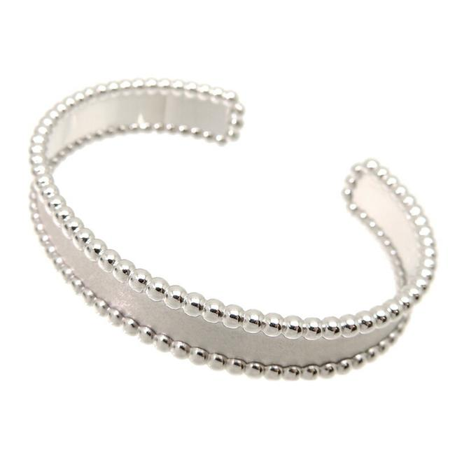 Item - White Perle Women's Men's Bangle 750 Gold Bracelet