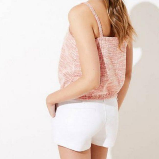 Item - Peach New Petite Ikat Boucle Bubble Hem Cami Medium Blouse Size 8 (M)