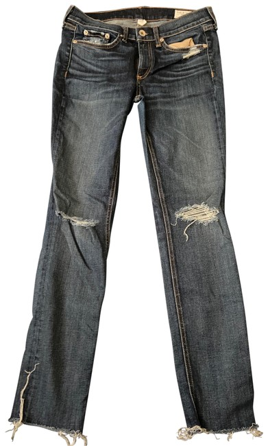 Item - Distressed And Skinny Jeans Size 4 (S, 27)