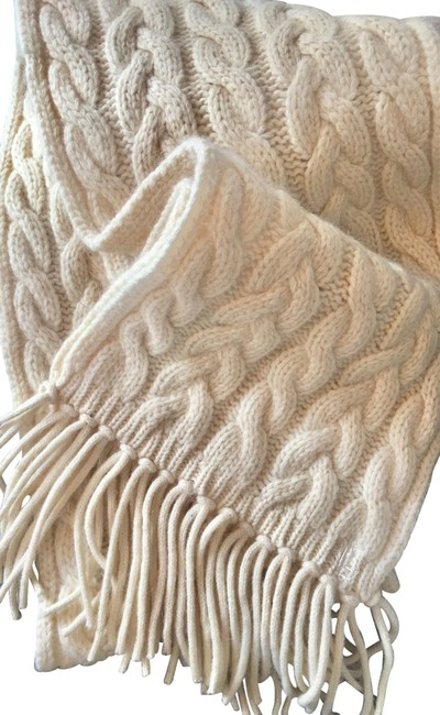 Item - Whiter White 60% Off Cable Wool Nwot Scarf/Wrap