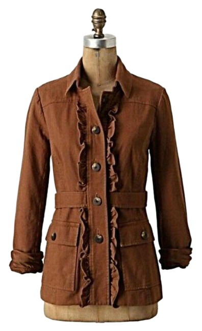 Item - Brown Tabitha Theodora Ruffle Button Tan Inspired Blazer Jacket Size 2 (XS)