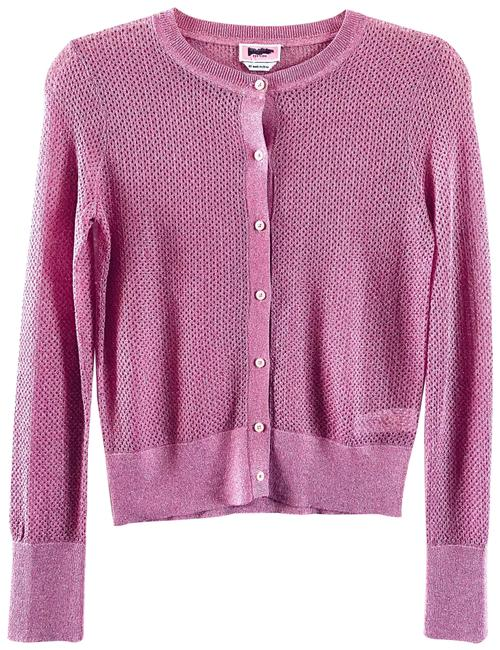 Item - Pink Mainline Open Lurex Cardigan Size 2 (XS)