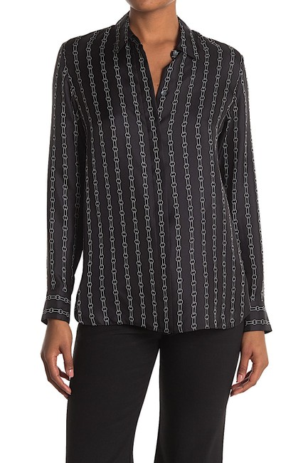 Item - Black with Tag Classic Straight Silk Shirt Button-down Top Size 4 (S)