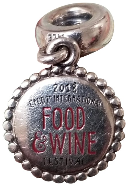 Item - Sterling Silver Disney Epcot Food and Wine Festival 2018 Charm