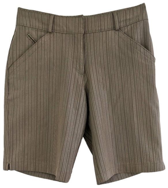 Item - Brown Fit Dry Striped Golf Shorts Size 2 (XS, 26)