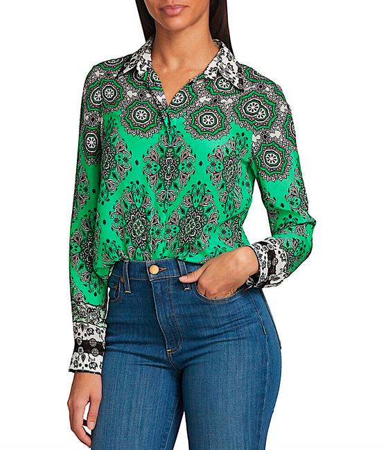 Item - Green Multi with Tag Willa Mandala Blouse Button-down Top Size 8 (M)