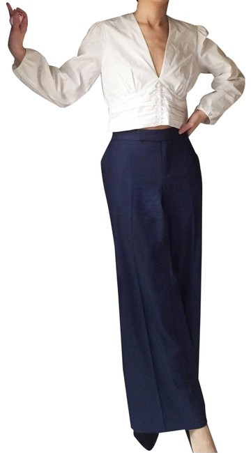 Item - Blue High Rise Navy Silky Activewear Bottoms Size Petite 8 (M)