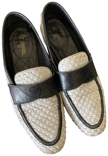 Item - White/Black 17c G32311 Y51104 Mocassins Loafers In Calfskin Flats Size EU 37 (Approx. US 7) Regular (M, B)
