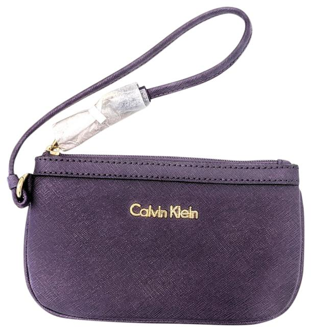 Item - Acai Wristlet/ Wallet Purple Leather Wristlet