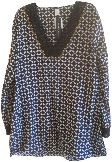 Item - Black and White XL Swimsuit Cover-up/Sarong Size 16 (XL, Plus 0x)