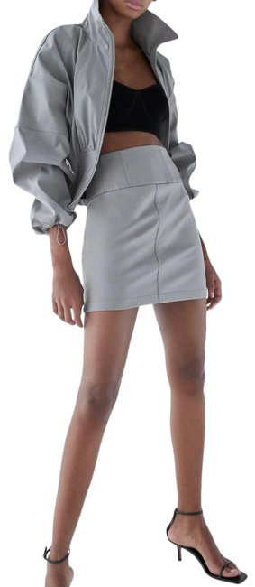 Item - Gray Faux Leather Skirt Size 8 (M, 29, 30)